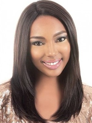Perruque Afro-Américaine Soyeuse Lace Front
