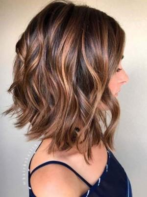 Perruque Exquise Ondulée Lace front Cheveux Naturels