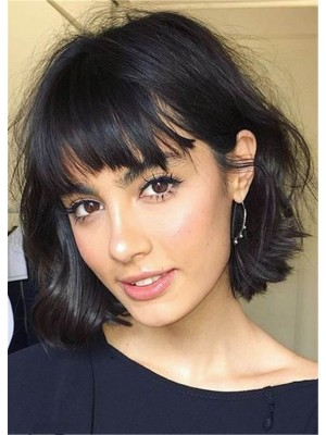 perruque Extra Courte Capless Lisse Cheveux Naturels