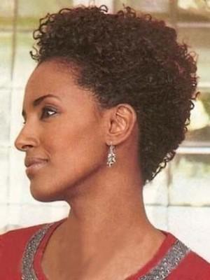 Perruque Courte De 100% Cheveux Naturels En Vogue