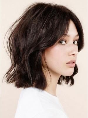 Perruque Convenable Ondulée Lace Front Cheveux Naturels